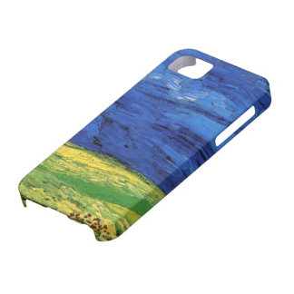 Campo de trigo de Van Gogh debajo de un cielo iPhone 5 Case-Mate Carcasas