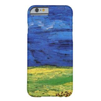 Campo de trigo de Van Gogh debajo de un cielo Funda Para iPhone 6 Barely There
