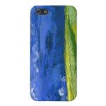 Campo de trigo de Van Gogh debajo del cielo nublad iPhone 5 Funda
