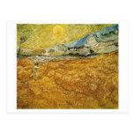Campo de trigo de Van Gogh, hospital, segador Tarjeta Postal