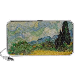 Campo de trigo de Vincent van Gogh Notebook Altavoces