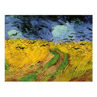 Campo de trigo de Vincent van Gogh con la postal