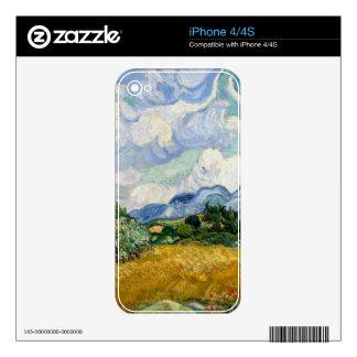 Campo de trigo de Vincent van Gogh con los Calcomanía Para iPhone 4