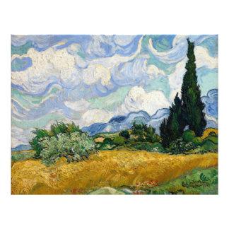 Campo de trigo de Vincent van Gogh con los Folleto 21,6 X 28 Cm