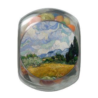 Campo de trigo de Vincent van Gogh con los Frascos Cristal