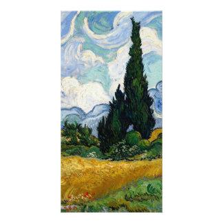Campo de trigo de Vincent van Gogh con los Tarjeta Personal Con Foto