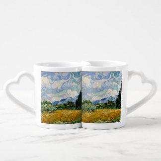 Campo de trigo de Vincent van Gogh con los Tazas Para Parejas