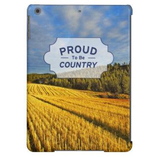 Campo de trigo después de la cosecha funda para iPad air