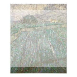 Campo de trigo en lluvia de Vincent van Gogh Flyer Personalizado