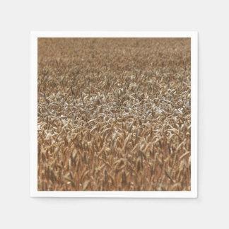 Campo de trigo servilleta desechable