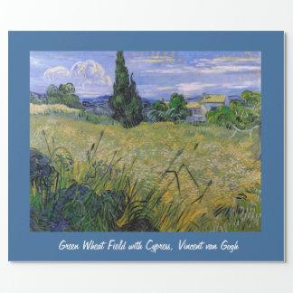Campo de trigo verde con Cypress, Vincent van Papel De Regalo