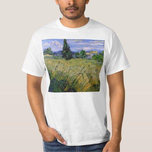 Campo de trigo verde con Cypress - Vincent van Remera