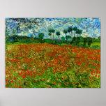 Campo de Van Gogh con bella arte de las amapolas ( Posters