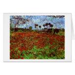 Campo de Van Gogh con bella arte de las amapolas ( Felicitación
