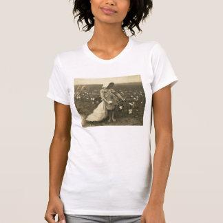 Campo del algodón camiseta