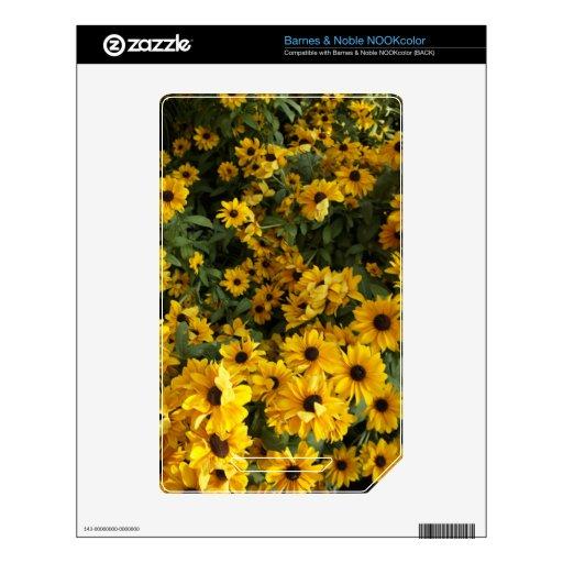 Campo del amarillo calcomanía para NOOK color