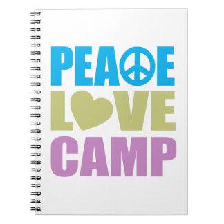 Campo del amor de la paz cuaderno