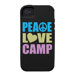 Campo del amor de la paz vibe iPhone 4 funda