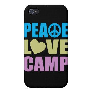 Campo del amor de la paz iPhone 4/4S carcasas