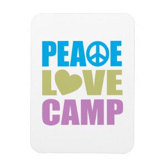 Campo del amor de la paz imán rectangular