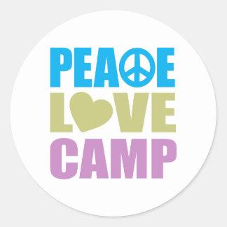 Campo del amor de la paz pegatina redonda