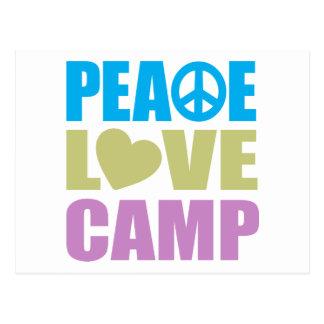 Campo del amor de la paz postal