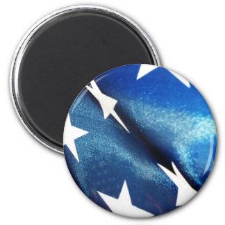 Campo del azul imán redondo 5 cm