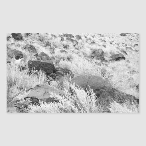 Campo del basalto pegatina rectangular