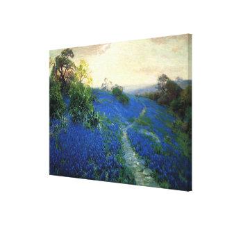 Campo del Bluebonnet, pintura juliana de Onderdonk Impresión En Lienzo