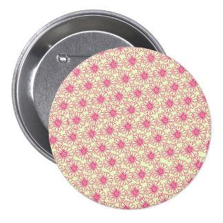 Campo del botón de las margaritas flores rosadas pin