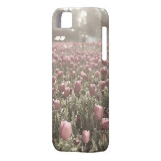 Campo del caso del iPhone 5 de los tulipanes Funda Para iPhone SE/5/5s
