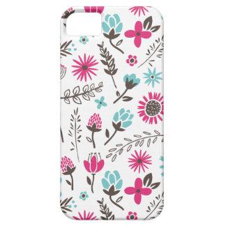 Campo del caso del iPhone de las flores iPhone 5 Case-Mate Protectores