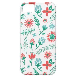 Campo del caso del iPhone de las flores iPhone 5 Carcasas