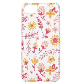 Campo del caso del iPhone de las flores