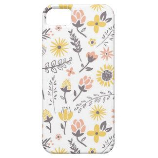 Campo del caso del iPhone de las flores iPhone 5 Case-Mate Cobertura
