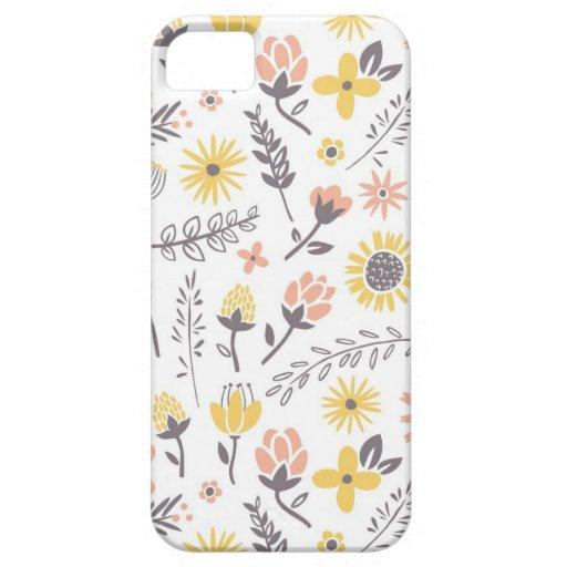 Campo del caso del iPhone de las flores Funda Para iPhone 5 Barely There