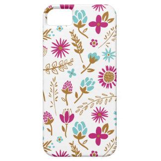 Campo del caso del iPhone de las flores iPhone 5 Fundas