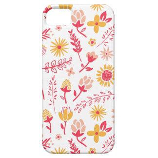 Campo del caso del iPhone de las flores iPhone 5 Coberturas