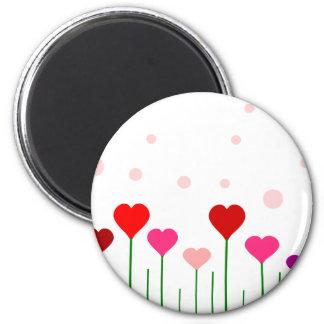 Campo del corazón del amor imán para frigorifico