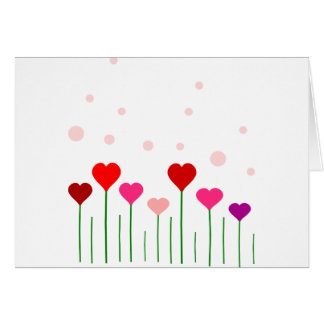 Campo del corazón del amor tarjeta