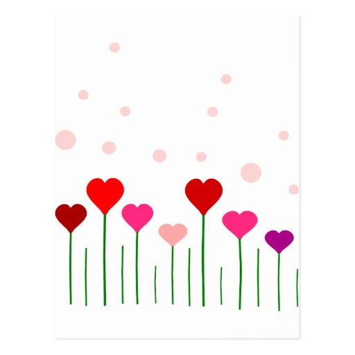 Campo del corazón del amor tarjeta postal