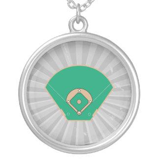 campo del diamante de béisbol collar