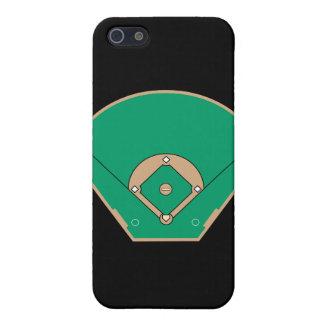 campo del diamante de béisbol iPhone 5 fundas