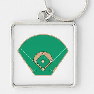 campo del diamante de béisbol llaveros