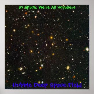 Campo del espacio profundo de Hubble Póster