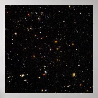 Campo del espacio ultra profundo de Hubble Póster