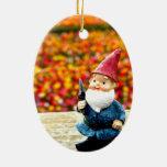 Campo del gnomo ornamento para arbol de navidad
