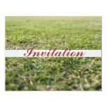 Campo del golf invitaciones personalizada