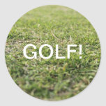 Campo del golf pegatinas redondas