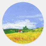 Campo del granjero pegatinas redondas
